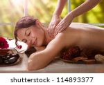 massage. spa salon | Shutterstock . vector #114893377