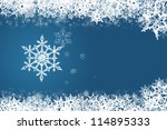 snowflake on blue | Shutterstock . vector #114895333