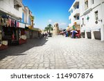 Street in Sousse, Tunisia - stock photo