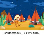 illustration of a tent house... | Shutterstock . vector #114915883