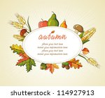 autumn background illustration... | Shutterstock .eps vector #114927913