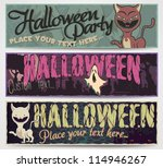 fully editable halloween vector ... | Shutterstock .eps vector #114946267
