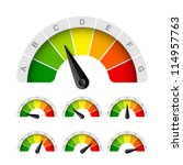 energy efficiency rating.... | Shutterstock .eps vector #114957763