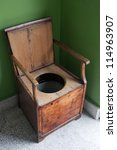 Vintage Toilet Made Of Wooden...