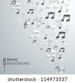 vector music note background | Shutterstock .eps vector #114973537