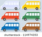 set of colorful stickers with... | Shutterstock .eps vector #114974353