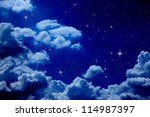 night sky | Shutterstock . vector #114987397