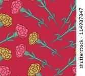 carnation flowers seamless...   Shutterstock .eps vector #114987847