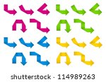 folded paper arrows | Shutterstock .eps vector #114989263