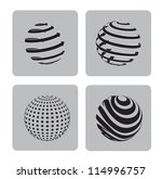 sphere in different ways over... | Shutterstock .eps vector #114996757