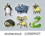 vector illustrated set of... | Shutterstock .eps vector #115009537