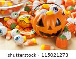 Spooky Orange Halloween Candy...