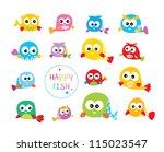 cute fish illustration | Shutterstock .eps vector #115023547
