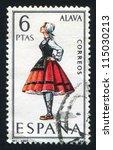 spain   circa 1967  stamp... | Shutterstock . vector #115030213