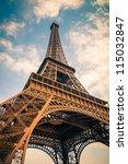 Close Up Of Eiffel Tower  Paris