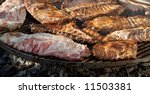 barbecue fresh slices of meat... | Shutterstock . vector #11503381