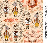 vector seamless pattern with...   Shutterstock .eps vector #115039327