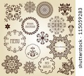 vector vintage design elements  ... | Shutterstock .eps vector #115059283