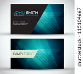 blue modern business card set   ... | Shutterstock .eps vector #115104667
