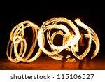 fire show at the beach  goa | Shutterstock . vector #115106527