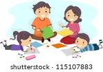illustration of a family making ...   Shutterstock .eps vector #115107883