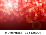 Red defocused lights - stock photo