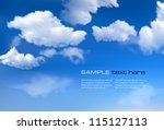 Stock vector blue sky with clouds vector background 115127113