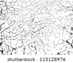 Crackling texture - stock vector