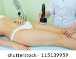 procedure for women hip for cellulite - stock photo