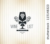 Wine list design - stock vector