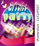 night party design template... | Shutterstock .eps vector #115149337