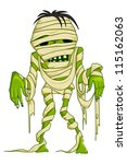 vector illustration of scary... | Shutterstock .eps vector #115162063