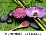 Pink Orchid  With Zen Stone An...