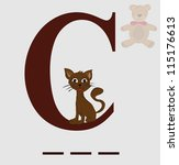 C For Cat Vector
