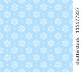 Blue Seamless Snowflake Pattern