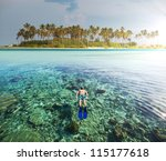 Maldives safari - stock photo