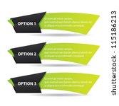 green vector paper progress... | Shutterstock .eps vector #115186213