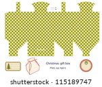 gift box template isolated on...   Shutterstock . vector #115189747