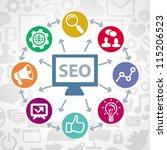 vector social media concept  ... | Shutterstock .eps vector #115206523