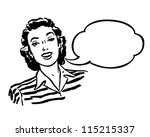 Spokeswoman   Retro Clipart...