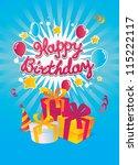 happy birthday vector card | Shutterstock .eps vector #115222117