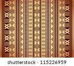 Brown ethnic texture - stock vector