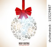christmas ball made from... | Shutterstock .eps vector #115229887