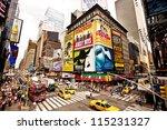 new york city   july 22  times... | Shutterstock . vector #115231327