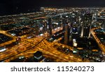 Dubai City Night View From Top...