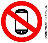 no phone vector sign | Shutterstock .eps vector #115243207