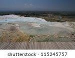 pamukkale   terraces of... | Shutterstock . vector #115245757