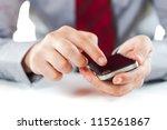 close up of a business man...   Shutterstock . vector #115261867