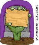 halloween illustration... | Shutterstock .eps vector #115262353