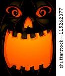 background halloween...   Shutterstock .eps vector #115262377